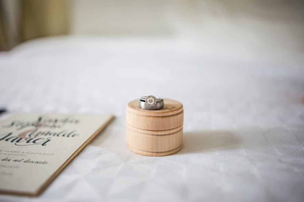 silver colored ring